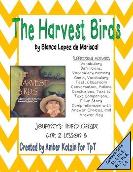 The Harvest Birds Activities 3rd Grade Journeys: Unit 2, Lesson 8