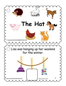 """""""The Hat"""" by Jan Brett Modified Book (AAC/Autism)"""