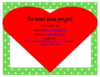 The Heart Book Project...sight words, where I live, letter