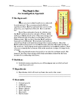 The Heat is On: An Investigative Approach - Labratory / Ex