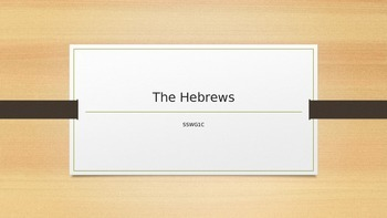 The Hebrews Power Point Notes and Questions