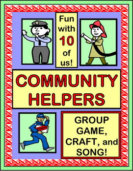 """""""The Helpers in My Town!"""" - Community Helpers Group Game,"""