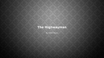 """The Highwayman"" generating questions to answers"