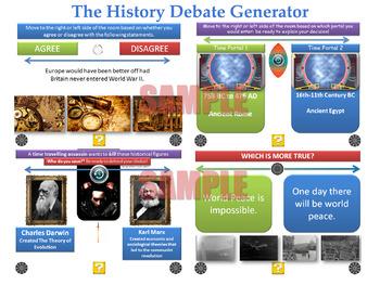 The History Debate Generator [200 Slide PPT with 'Randomis