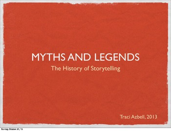 The History of Storytelling: 51 Slides, World Cultures, In