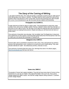 The History of Writing-Montessori Cards
