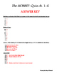 The Hobbit Comprehension Quiz ch. 1-6 & Answer Key