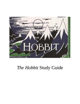 The Hobbit Study Guide