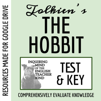 The Hobbit Test & Answer Key (Common Core Aligned)