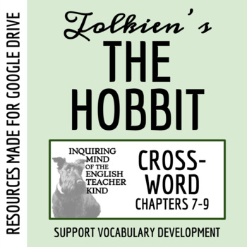The Hobbit Vocabulary Crossword Puzzle (Chapters 7-9)