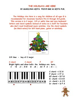 The Holidays Are Here - children's song about fun during t