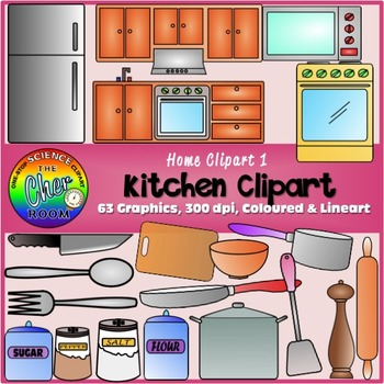 Kitchen Clipart (My Home Series I)