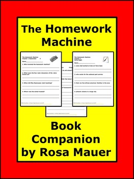 The Homework Machine Reading ComprehensionBook Unit