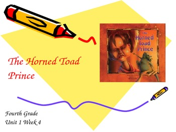 The Horned Toad Prince Vocabulary PowerPoint