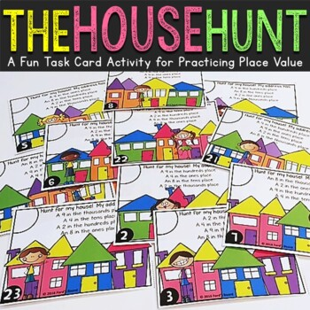 Place Value to the Thousands Task Cards