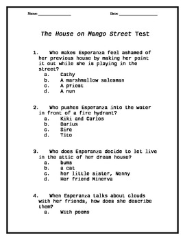 the house on mango street essay prompts house plan  house on mango street worksheets library