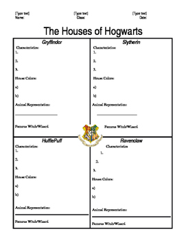 The Houses of  Hogwarts