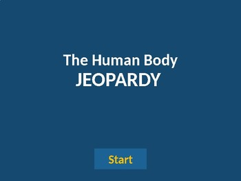 The Human Body Jeopardy
