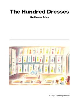 The Hundred Dresses by Eleanor Estes Literary Discussion Guide