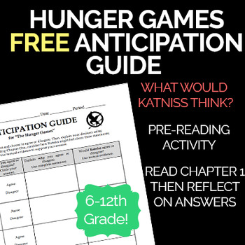 The Hunger Games Pre-Reading Anticipation Guide