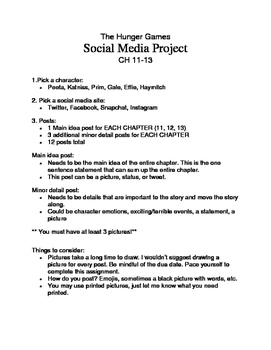 The Hunger Games - Social Media Project