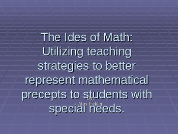 The Ides of Math: