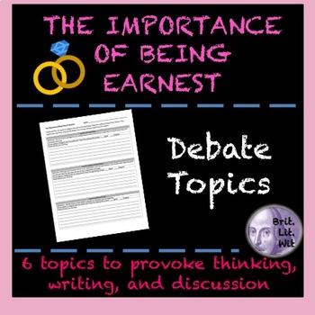 The Importance of Being Earnest (Oscar Wilde) Debates