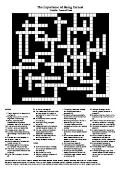 The Importance of Being Earnest - Vocabulary Crossword (U.