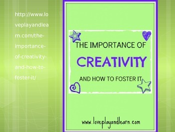 The Importance of Creativity for FACS Child Development or