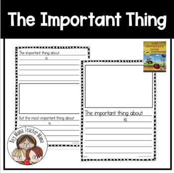 The Important Book FREE Template