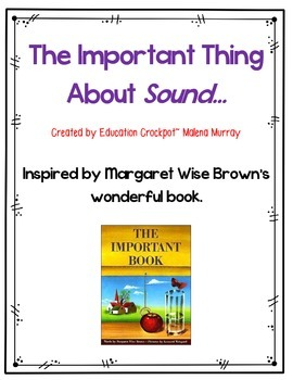 The Important Thing About Sound