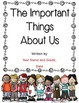 The Important Things About Us - An End-of-the-Year Keepsake Idea