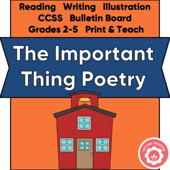 THE IMPORTANT THING Poetry Writing