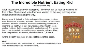 The Incredible Nutrient Eating Kid