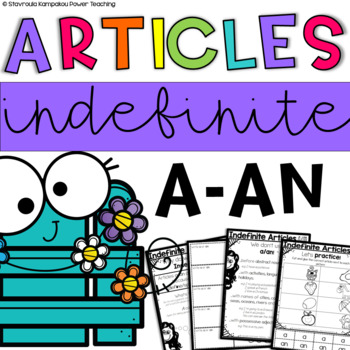 The Indefinite Articles a/an - Print and Go Task Cards, Pr