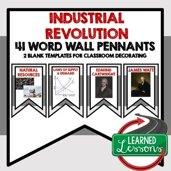 The Industrial Revolution Word Wall Pennants (World History)