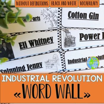 Industrial Revolution Word Wall without definitions - Blac
