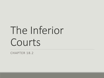 The Inferior Courts