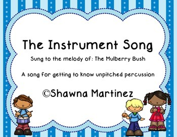 The Instrument Song - introducing percussion instruments t