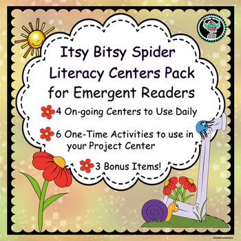 The Itsy Bitsy Spider Nursery Rhyme Literacy Centers for E