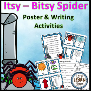 Itsy Bitsy Spider Posters and Writing Activities, Spiders,