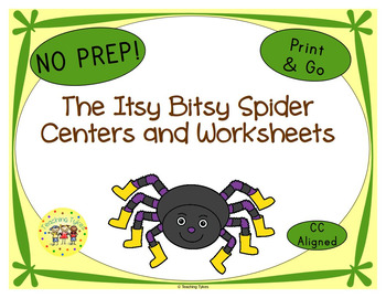 The Itsy Bitsy Spider Worksheets Activities Games Printabl