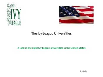 The Ivy League Universities