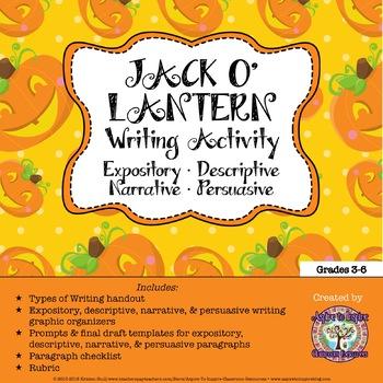 The Jack-o'-Lantern: Four Types of Writing Activity