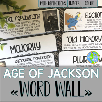 Andrew Jackson Word Wall