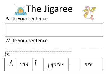 The Jigaree differentiated worksheet