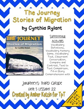 The Journey: Stories of Migration 3rd Grade Journeys Unit