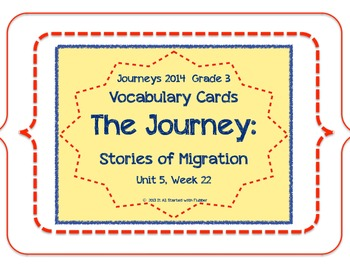 The Journey: Stories of Migration, Voc. Cards, Unit 5, Les
