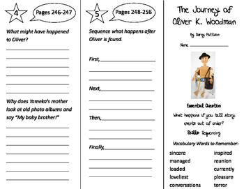 The Journey of Oliver K. Woodman Trifold - Journeys 3rd Gr