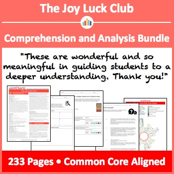 The Joy Luck Club – Comprehension and Analysis Bundle